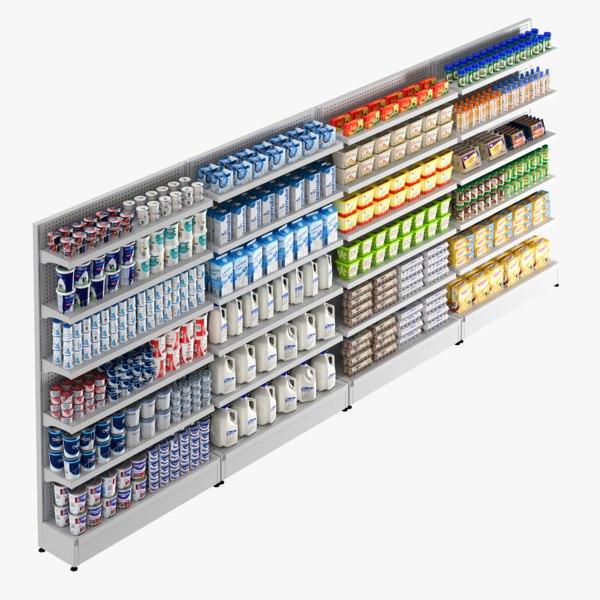3D shelf dairy