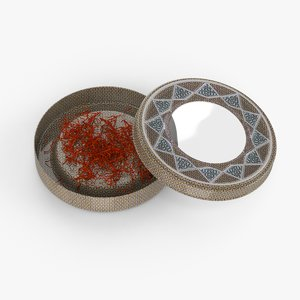 saffron persian tin 3D model