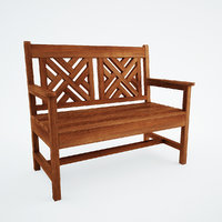 Woven Back Bench