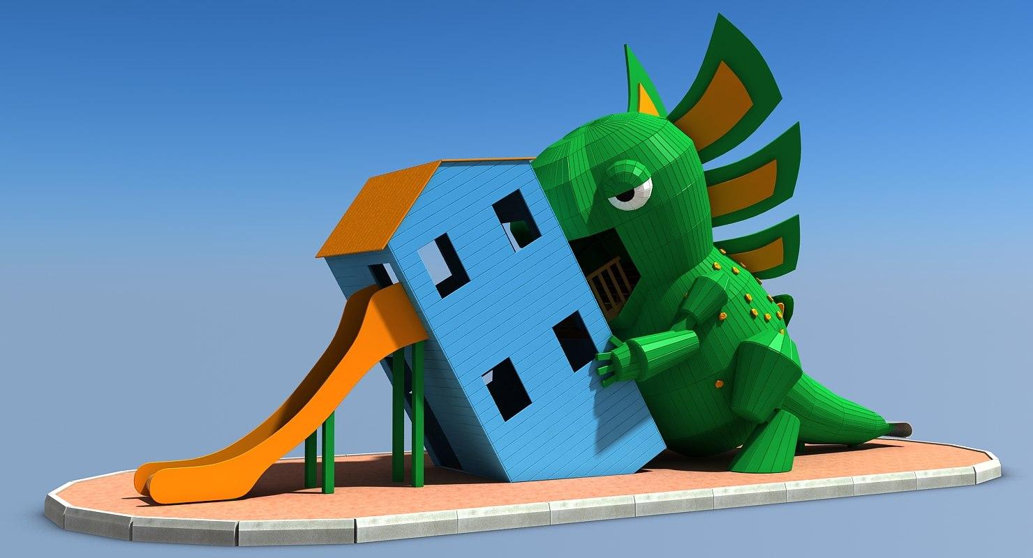 3D modeled slide