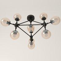 Modern pendant chandelier for living room or apartment (3d model)