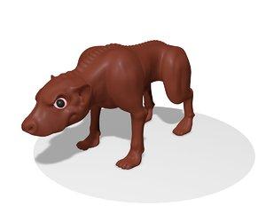 3D dog monster