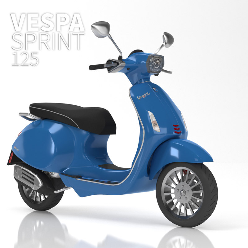 3D high-poly vespa