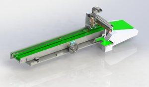3D adjustable distance conveyor loading