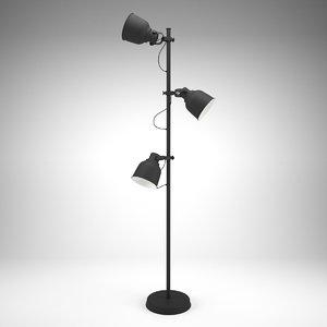 ikea hektar floor lamp 3D