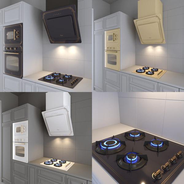 3D kitchen appliances style model