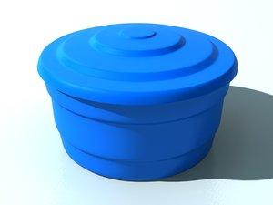 3D model plastic water tank