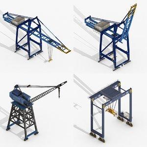 cranes port 3D model