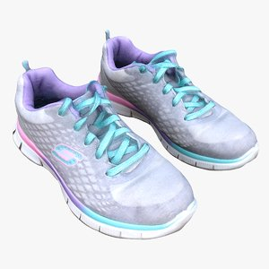 3D model girl skechers