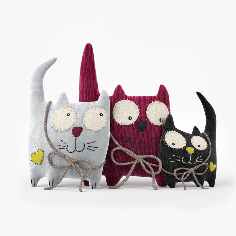 cute cat toy 3d model