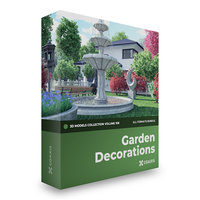 3D garden decorations unreal engine model