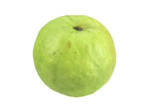 photorealistic scanned guava model