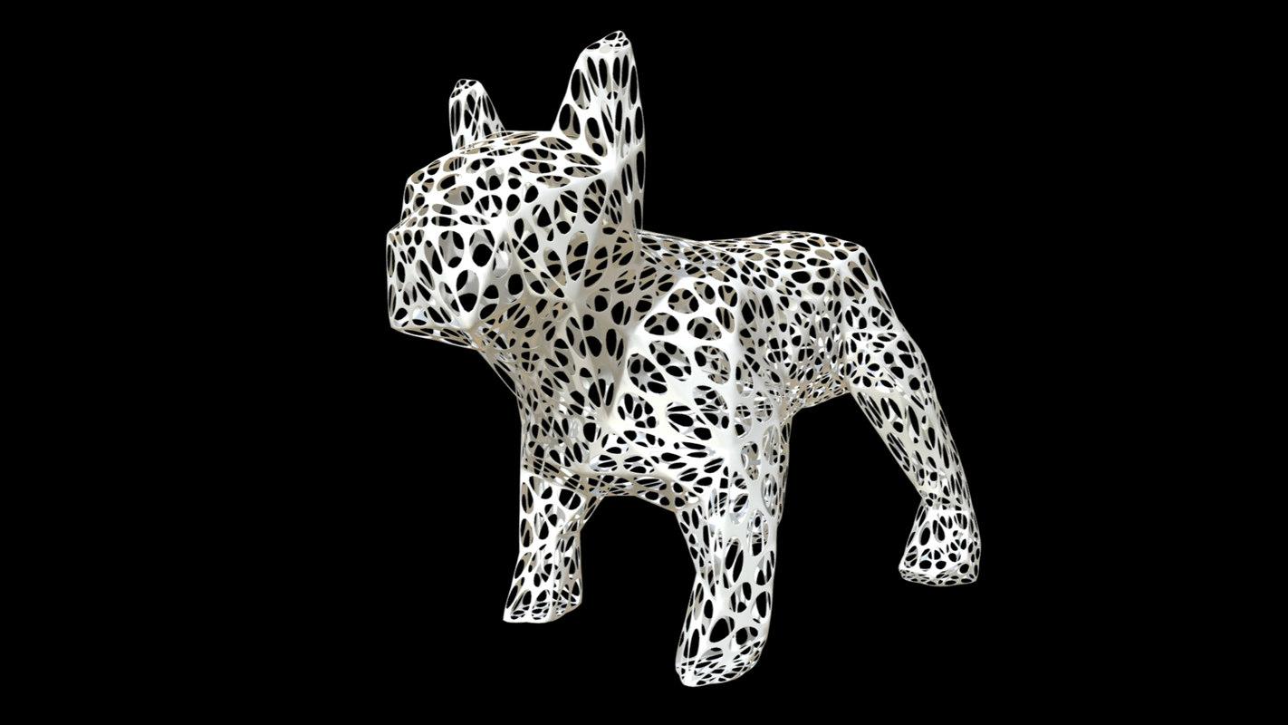 3D printed bulldog figure 2
