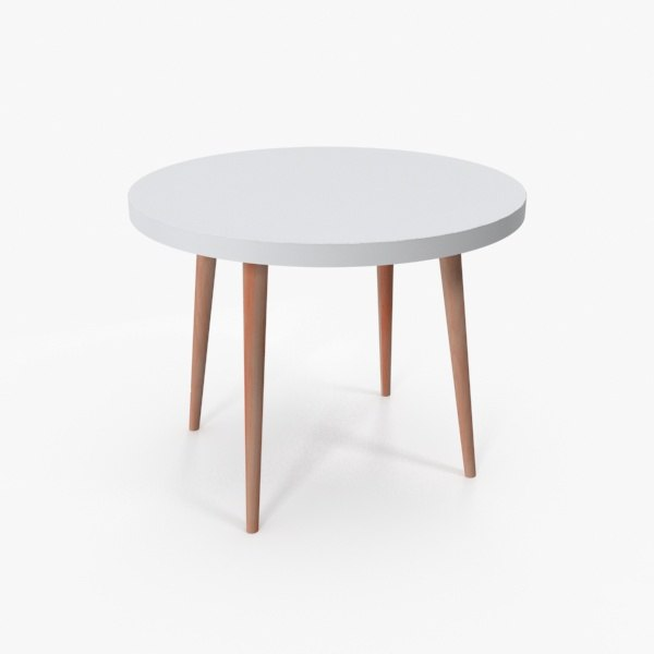 accent table wood 3D