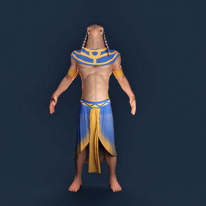 3D character people model