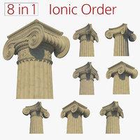 3D ionic columns model