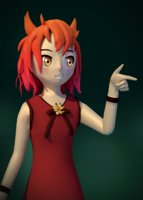 anime girl 3D model