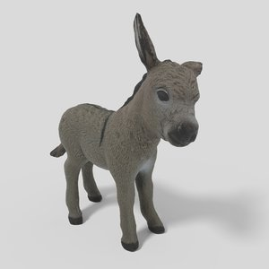 3D donkey pbr