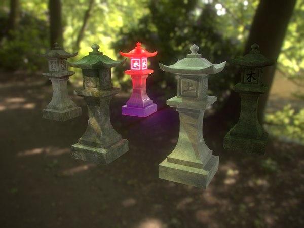 stone lantern pack model