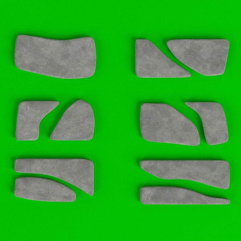 3D set stone steppers