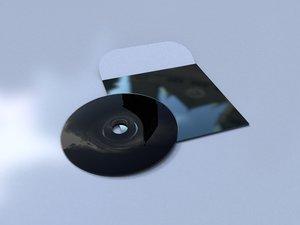 vinyl disk cover 3D model