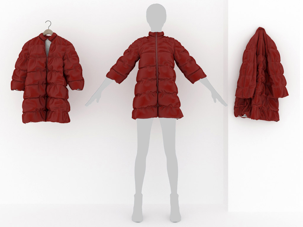 3D women jacket quilted