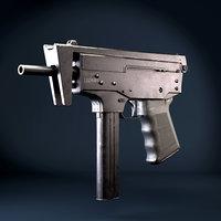 submachine gun pp-91 kedr 3D