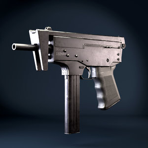 submachine gun pp-91 kedr 3D