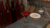 Wine glass with bar