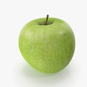 3D apple granny smith