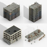 3D construction buildings