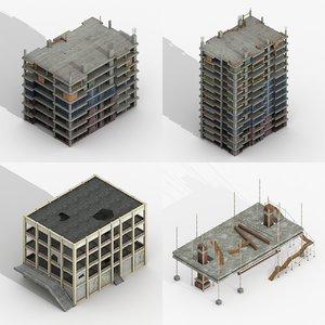 3D construction buildings