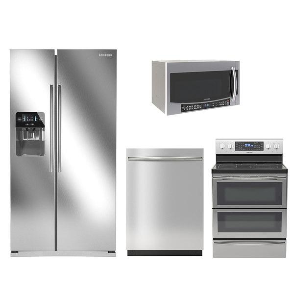 samsung microwave dishwasher 3D