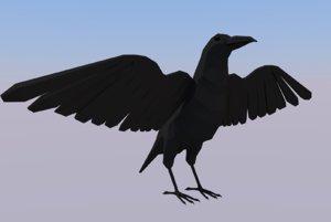 3D model simple crow