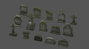 graveyard tomb tombstone 3D model