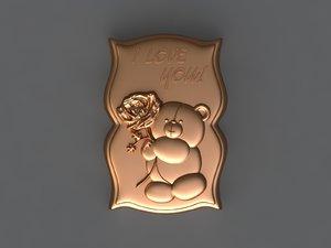 3D bear mold hand