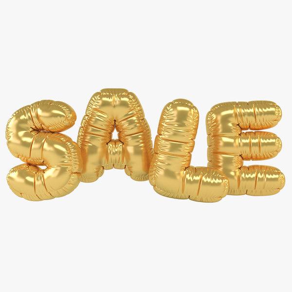 3D realistic balloon letter sale