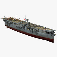 3D japanese aircraft carrier shokaku model