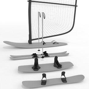 board sport 3D model