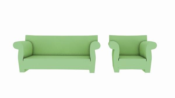 kartell bubble sofa 3D model