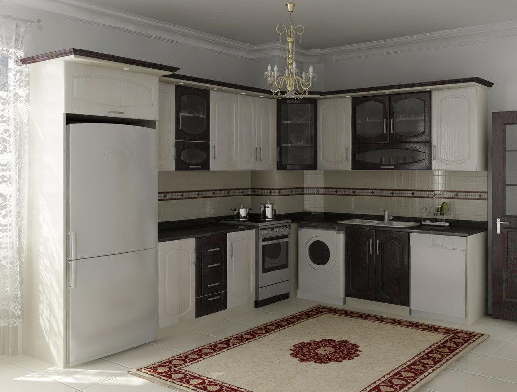 l kitchen design 3D model