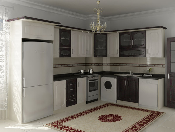 l kitchen design 3D model