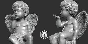 3D print ready sculpture angel