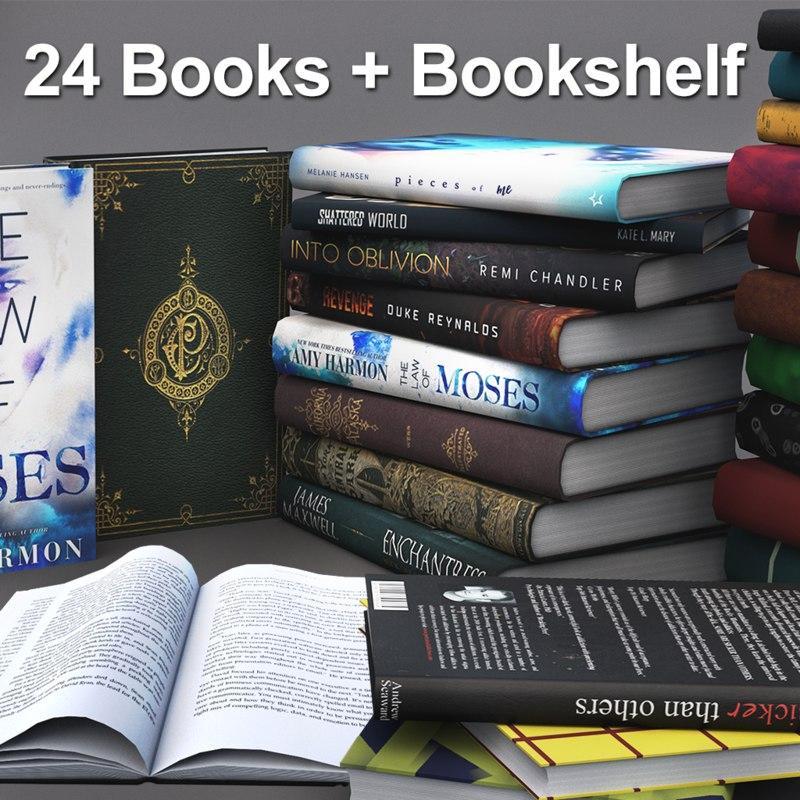 set books bookshelf model