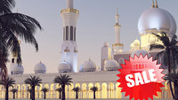 3D sheikh zayed mosque architecture model