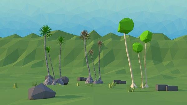 scene tree yucca 3D model