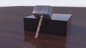 3D thors hammer