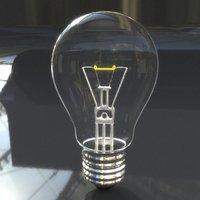 3D bulb realistic
