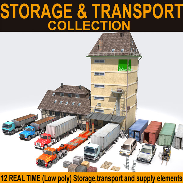 storage transport truck car 3d model