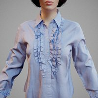 Blue Top Decorated Shirt